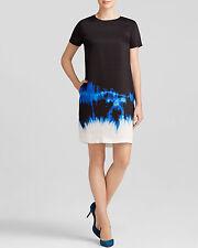 Vince Tie Dye Indigo Short Sleeve Dress Pre-Loved Size 8 MSRP $395 Size 8