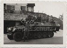 Foto Halbkette SdKfz Spähwagen Panzer Spw SdKfz. 251/1 10x14cm