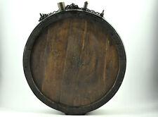 1850's Antique Huge Primitive Wood Farm Wagon Water Barrel Keg Canteen Chain 4kg