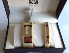 Anne Klein Women's Quartz Metal and Resin Dress Watch, Color:Beige Model AK2826