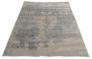 Hand Knotted Wool And Viscose Rug Erase Pattern 9.9 X 7.11 Feet The Rug Company