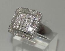 Baguette Cluster White Gold Fine Diamond Rings