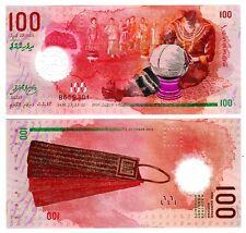 Maldives 2015 Polymer Uncirculated Note 100 Rufiyaa