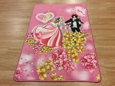 Pink Princess & Prince Kids Room Nursery Rug Washable Anti-slip 80x120cm 33%OFF