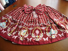 Bodyline Sweet Lolita Wine Red Maroon Magical Cosmetics Skirt Size M NWT