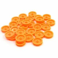 30 Pcs 2mm Hole Orange Plastic Belt Pulley for DIY RC Car Airplane M6S1