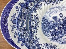 Vintage Mismatched China Dinner Plates ~ Set of 4 ~ Blue & White