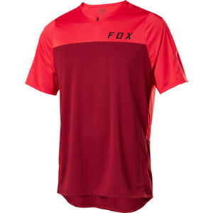 Fox Racing Flexair Zip s/s Short Sleeve Jersey Chili