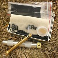 Brass Fire Piston Kit Outdoor Camping Hunting Survival Fire Starter Tube Tools