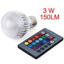 Bien E27 RGB LED Ampoule 16 Couleur Dimmable à vis Lumière Lampe IR télécommande