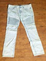 PacSun Light Motto Stacked Skinny Denim Jeans Stonewashed Men's Sz 34x32 - # AR