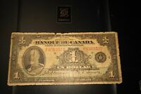 1935 $1 Dollar Bank du Canada Banknote French FO363522