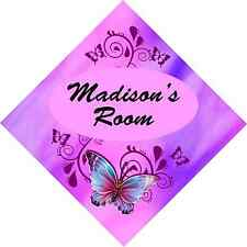 BUTTERFLY ROOM SIGN add name