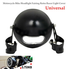 "5.75"" Motorcycle Headlight Fairing Racer Light Cover Lamp Mounting Stent Kit"