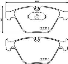 Mintex Plaquettes Frein Avant MDB3106-Brand new-genuine-Garantie 5 an