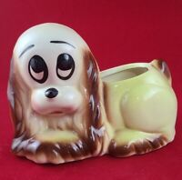 Vintage Ceramic Sad Puppy Cocker Spaniel Hull Planter