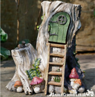 Ladder Fairy House old tree trunk garden ornament decoration Pixie lover gift