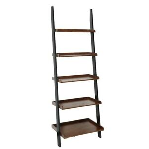 Convenience Concepts French Country Bookshelf Ladder, Walnut/Black - 8043391DWN