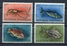 38175) INDONESIA 1963 MNH** Fish 4v