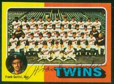 Original Autograph of Frank Quilici of the Minnesota Twins on a 1975 Topps Mini