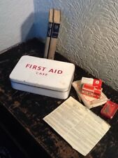Lovely Vintage 1960s First Aid Red & WhiteTin #4059
