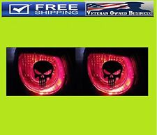 TWO TAIL LIGHT BRAKE PUNISHER SKULL DIE CUT DECAL STICKERS Sniper 2nd Amendment
