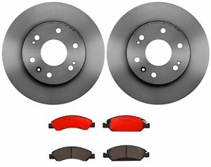 Brembo Front Brake Kit Ceramic Pads UV Coated Disc Rotors For Cadillac Chevy GMC