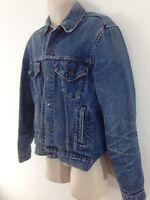 Levi Strauss Mens 44 L Blue Vtg 80s USA Made Trucker Farmer Denim Jean Jacket