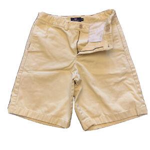 Vineyard Vines Boys Yellow Flat Front Shorts Adjustable Waist Size 14