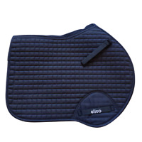 Elico Close Contact Style SADDLECLOTH Saddle Pad | BLACK | VENTED Spine QUILTED