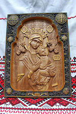Our Lady of Perpetual Help UNIQUE CHRISTIAN GIFT Wood carved icon FREE ENGRAVING