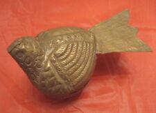 COLOMBA Vintage metal ornament box DOVE lucky bird paloma scatola in latta