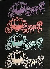 Tattered Lace -  Carriage - Die Cuts - Glittered - Princess - Set of Four!!!