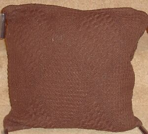 Set Of 4 Diamond Tasselled  Chocolate cushion covers Free P&P Only £9.99 set