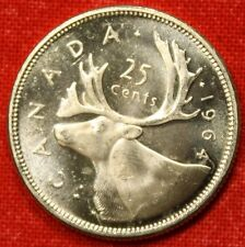 1964 CANADIAN QUARTER BU 80% SILVER GREAT COLLECTOR COIN GIFT CAQ31