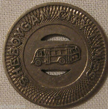 Vintage Sheboygan Wisconsin City Lines Bus Transit Token Selling Collection