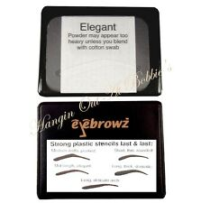 Eyebrowz Eyebrow Stencils Package of 5 Plastic Brow Shapes