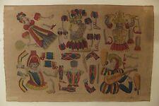 Planche à découper Pantins Gravure ancienne