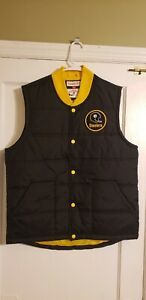 Mitchell & Ness Pittsburgh Steelers NFL Play Clock Throwback Vest Size Large