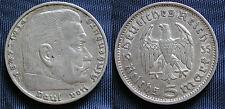 MONETA COIN GERMANIA GERMANY THIRD REICH 5 MARKS 1935.F HINDEMBURG SILBER SILVER