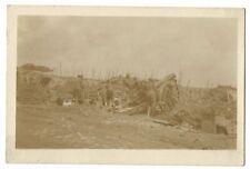 196 Siege Battery, RGA in Action at Bresinghe, Belgium, 1917 RP PPC, USA Studios