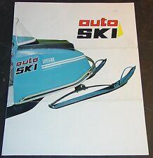 VINTAGE 1971? AUTO SKI SNOWMOBILE SALES BROCHURE 4 PAGES  (882)