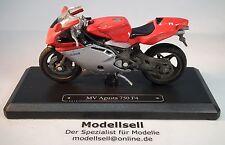 Mv Agusta 750 f4 en escala 1:18 moto modelo de Majorette en stand placa