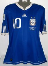 ADIDAS ARGENTINA AWAY WC2010 MESSI L ORIGINAL JERSEY SHIRT