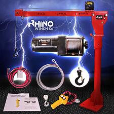Grúa giratoria portátil eléctrica 12v con tecnología de 3000lb/1360kg Marca Rhino Cabrestante