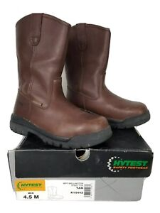 Hytest Safety Footwear Mens Wellington Steel Toe Brown Safety Boot Size 4.5 M