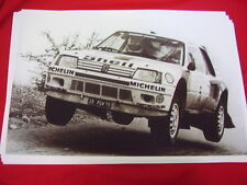 1985 PEUGEOT 205 TURBO 16 RALLY CAR IN ACTION    BIG 11 X 17  PHOTO /  PICTURE