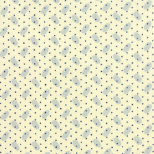 Ivory Polka Dots Polka Dots Paisley  Moda Quilt Fabric by the 1/2 yd