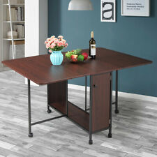Wood Multi-use Desk Computer Desk Moveable Folding Dining Table Home Furniture