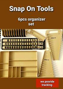 SNAP ON 1/4,3/8,1/2 SAE & METRIC Socket Organizer Holder SET COMBO 6PCS 8 colors